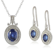 Sterling Silver Earrings and Pendant Necklace Jewellery Set