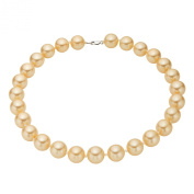 Sterling Silver Golden Shell Pearl Strand Necklace - South Sea Look - Halloween, Birthday, New Years Gift