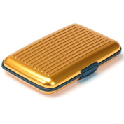 Aluminium Wallet Credit Card Holder RFID Protection Light Durable Safe . Gold One Size