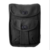 Canvas 2-Pocket Ammo Pouch Wallet - Black