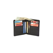 Embassy LULWAL10 Embassy Mens Solid Genuine Lambskin Leather Bi-fold Wallet