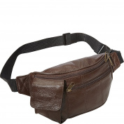AmeriLeather Leather Waist Pouch w/ Cellphone Holder