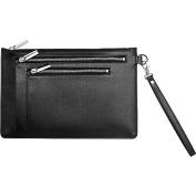 Royce Leather RFID Blocking Saffiano Leather Zippered Document Holder Portfolio