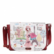 Nicole Lee Shopping Girl Print Messenger Bag
