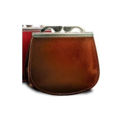 Ultimo Leather Framed Coin Purse in Cognac