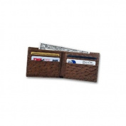 Budd Leather US 97-1 Genuine Ostrich Slim Wallet Black