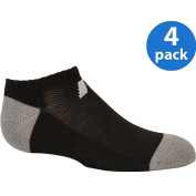 Russell Boys' Comfort Performance Dri-Power 360 No Show Socks - 4 Pack