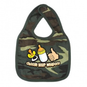 Woodland Camo Choose Your Weapon Cotton Bib