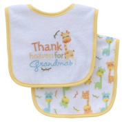 Parent's Choice Neutral Baby Bib, Thank Heaven, 2-Pack