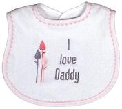 Raindrops 6225D Raindrops -I love Daddy- Embroidered Bib, Pink