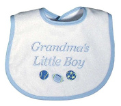 Raindrops 6631B Raindrops -Grandma's Little Boy- Embroidered Bib, Blue