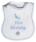 Raindrops 6003B Raindrops -My First Birthday- Embroidered Bib, Blue