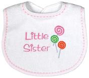 Raindrops 6939P Raindrops -Little Sister- Embroidered Bib, Pink