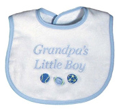 Raindrops 6632B Raindrops -Grandpa's Little Boy- Embroidered Bib, Blue