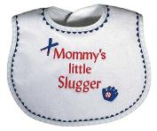 Raindrops 6112M Raindrops -Mommy's Little Slugger- Embroidered Bib, Royal