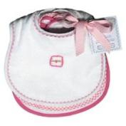 Dee Givens and CoRaindrops 26350 Raindrops 26350 Pastel Teething Bib Set-White-Pink