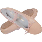 Dance Class by Trimfoot Girl\'s Leather Ballet Shoe