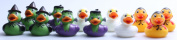 Dozen Assorted Halloween Costume Mini Rubber Ducks Ducky - 6.4cm