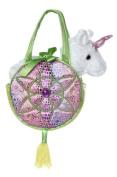 Aurora World Fancy Pals Toy Pet Carrier Plush Purse, Pink Dreams