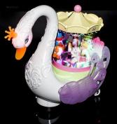 WolVol Beautiful Musical Rotating Horses Carousel Music Box on Self Riding Swan Animal