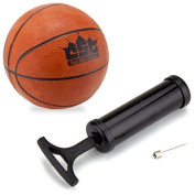 Crown Sporting Goods Mini Basketball with Needle and Inflation Pump, 13cm