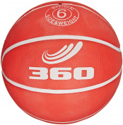 360 Athletics Playground Rubber Basketball, Size 6, Red
