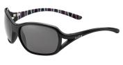 Bolle Women's Solden Sunglasses, Shiny Black/Bamboo Frame, True Neutral Smoke Lens