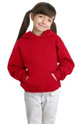 Hanes Comfortblend Youth Pullover Hooded Sweatshirt, Deep Red, M