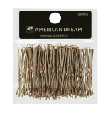 American Dream Wavy Bobby Pins, Blonde 2-inch/ 5 cm - Pack of 100