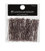 American Dream Wavy Hair Pins, Brown 2.5-inch/ 6.35 cm - Pack of 100