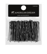 American Dream Straight Hair Pins, Black 2.5-inch/ 6.35 cm - Pack of 100