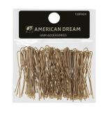 American Dream Wavy Hair Pins, Blonde 2-inch/ 5 cm - Pack of 100