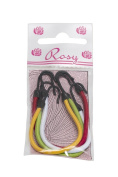 Rosy Professional Elastic Bands with Hook, Assorted Colours