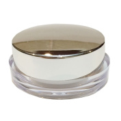 Perfectos Pack of 12 Silver Round Lid 5 Ml Acrylic Clear Empty Skincare Containers