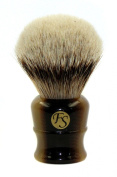Fs Super Large Silvertip Badger Shaving Brush With Faux Horn Handle Comes With Free Stand
