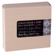 Bath House Cuban Cedar & Lime Shaving Soap Refill - 100g