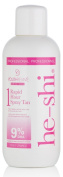 He-Shi Quick and Easy Rapid 1 Hour 9 Percent DHA Spray Tan Solution Medium To Dark 1 Litre