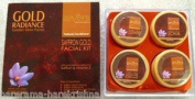 Zevers Bio Naturals Gold Radiance Golden Glow Facial Kit with Saffron & Vitamin E Ext Gold Facial Kit