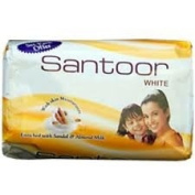 Santoor Ayurveda Sandal and Almond Milk Soap 125 Gramme
