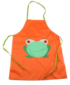 Super Cute Frog Easy Clean Wipable PVC Cooking Painting Apron Smock in 5 Colours Gift idea For 2 Years- 7 Year Old Boys Girls