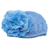 Demarkt Baby Girl Peony Flower Cap Winter Knitted Crochet Beanie Handmade Hat