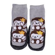 JTC Infant Toddler Jacquard Shoe Sock PU Anti-Slip Sole