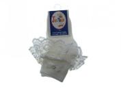 Baby/Girls Frilly Socks White (0-2.5 (GB) 16-18
