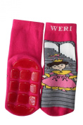 Weri Spezials High ABS Terry Socks. Design:Princess From Fairy Tale, Pink