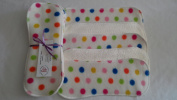 Easy Peasy Bamboo Fleece Topped Nappy Booster pk5 Cream Spotty