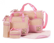 5Pcs Baby Nappy Changing Set Mummy Bags Multifunctional Large Capacity Shoulder