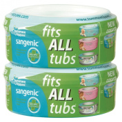 Tommee Tippee Sangenic Nappy Wrapper Cassette 2 Pack - Fits All Tubs