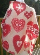 Breastfeeding Cover - Red Hearts