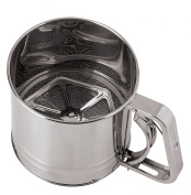 Paderno World Cuisine 12cm Diameter Stainless Steel Flour Sifter with Tinned Mesh