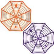 Halloween Plastic Spider Web Bowl - One